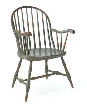 Pennsylvania sackback windsor armchair ca 1810