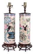 A Pair of Chinese Porcelain Hat Stands