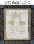 Collection of eleven New England stenciled plaster panels attributed to Stimp