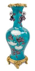 A Large French Gilt Bronze Mounted Chinese Porcelain Vase