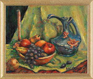 Oil on canvas still life signed  Arthur O 54