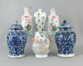 Four Contemporary Chinese porcelain vases