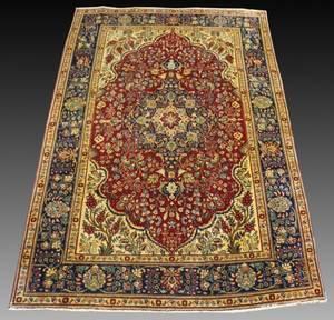 Hand Woven Semi Antique Tabriz Carpet 6 9 x 10 6