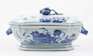 Chinese 19th20th C Lidded Porcelain Tureen