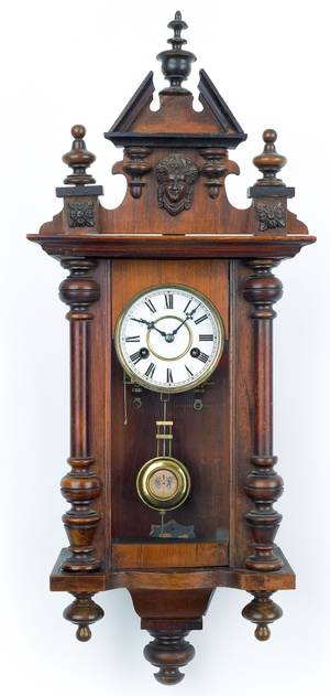 Victorian regulator clock