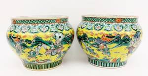 Pair of Large Contemporary Chinese Planters