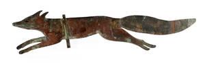 Sheet copper fox weathervane early 20th c