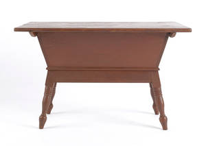 Pennsylvania pine dough box on stand ca 1840