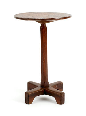 Pennsylvania William  Mary pine and maple candlestand ca 1760