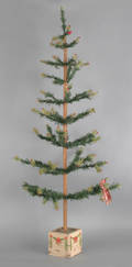 US Zone Germany Christmas feather tree