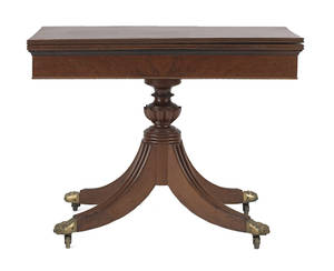 Mid Atlantic classical mahogany card table ca 1815