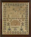 Scottish silk on linen sampler early 19th c