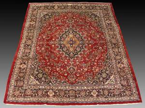 Signed Hand Woven Semi Antique Sarouk Carpet