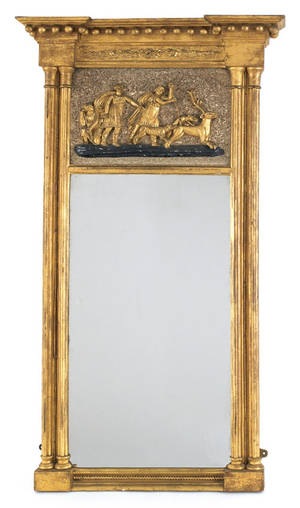 Federal giltwood mirror 19th c