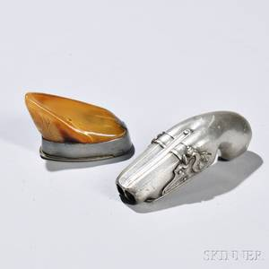 Two Pewter Snuff Boxes