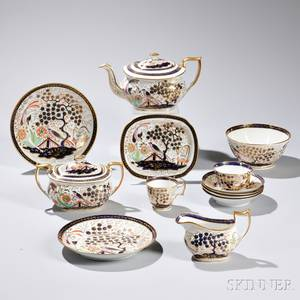 Imari Pattern English Porcelain Tea Service