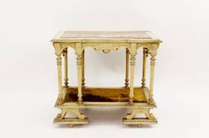 Italian Painted Marble Top Stand