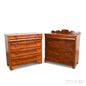 Two Late Classical Mahogany Veneer Chests