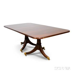 MaitlandSmith Federalstyle Mahogany Doublepedestal Dining Table