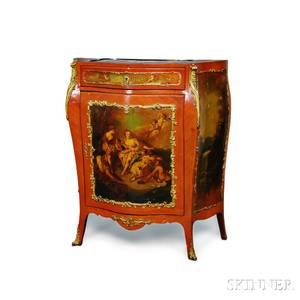 Louis XVstyle Fruitwood Veneer Vernis Martin Cabinet