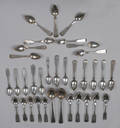 Collection of coin silver spoons by Vallet