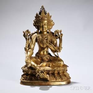 Giltbronze Figure of Bodhisattva