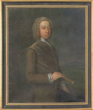 English oil on canvas portrait late 18th c