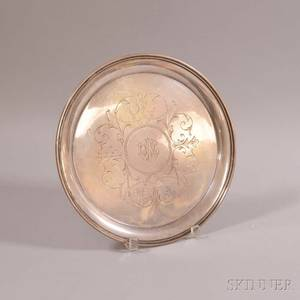 S Kirk  Son Sterling Silver Round Tray