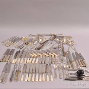 Large Group of Silverplated Flatware
