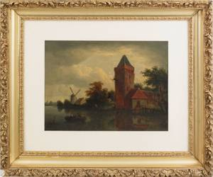 Dutch oil on canvas landscape