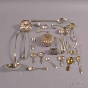 Group of British and Continental Sterling Silver Flatware