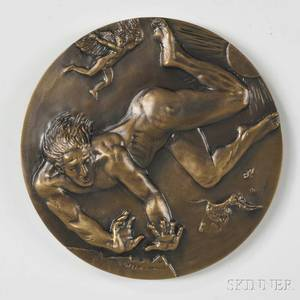 Joseph Sheppard ItalianAmerican b 1930 Flight of Icarus Bronze Medal