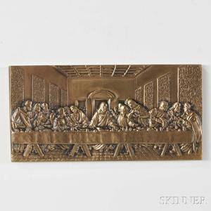 Geri Jimenez Gould American b 1943 Bronze Plaque The Last Supper