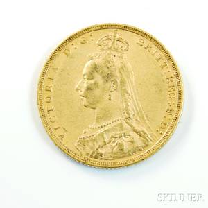 1889M British Gold Sovereign