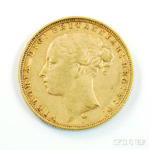 1880 British Gold Sovereign