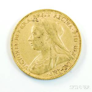 1893 British Gold Sovereign