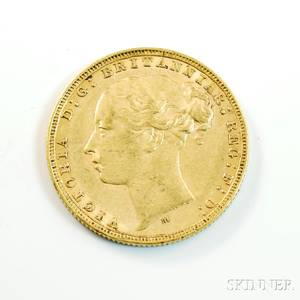1880 British Gold Sovereign