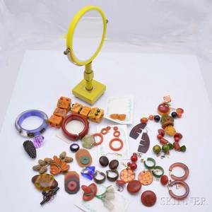Group of Bakelite Jewelry and Accessories