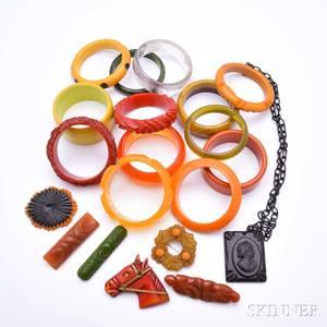 Group of Bakelite Jewelry