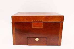 Inlaid Mahogany Storage Box