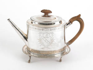Georgian silver teapot and stand 17821783 and 17831784
