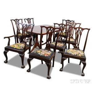 Paine Furniture Chippendalestyle Mahogany Dining Room Suite
