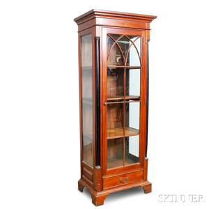 French Empirestyle Mahogany and Beveled Glass Cupboard