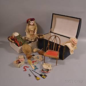 Brevete Bru Bisque Head Doll