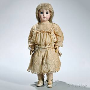 Large Bb Jumeau Triste or Long Face Bisque Head Doll