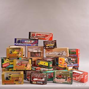 Twentynine CocaCola Collectible Toy Trucks