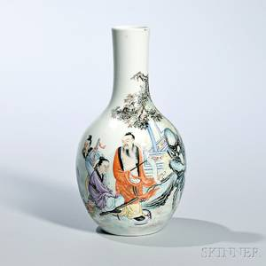 Enameled Bottle Vase