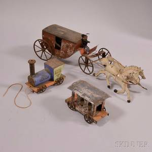 Three Painted Tin Toys