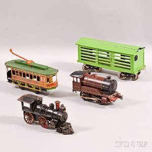 Four Tin and Cast Iron Trainrelated Items