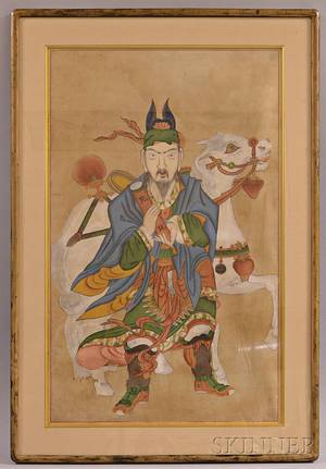 Buddhist Painting Depicting the Messenger of Hell